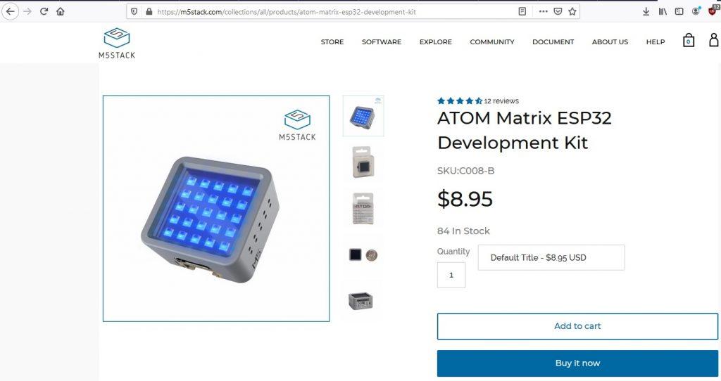 Atom5 Matrix ESP32